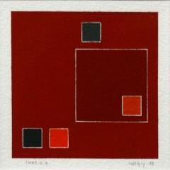 Guy de Lussigny, 1442G1, 1999, gouache sur papier, 11x11 cm